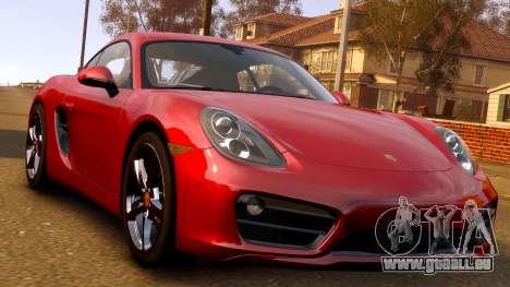 Porsche Cayman 981 S v2.0 pour le moteur de GTA 4