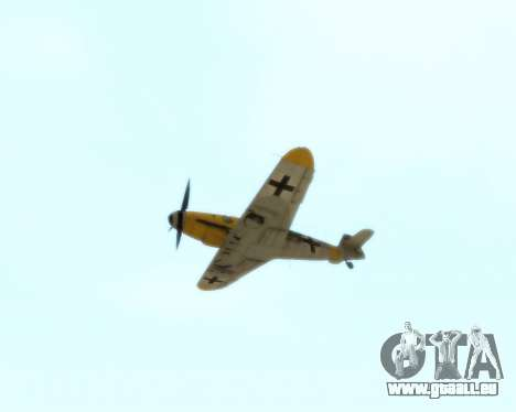 Bf-109 G6 v1.0 pour GTA San Andreas vue intérieure