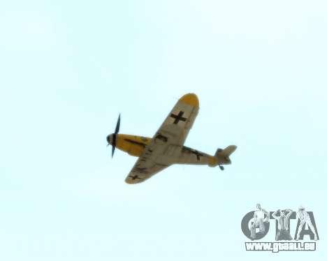 Bf-109 G6 v1.0 für GTA San Andreas Innenansicht