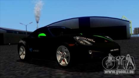 Porsche Cayman S 2014 für GTA San Andreas Innenansicht