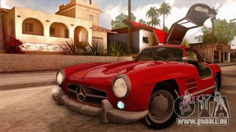 Mercedes-Benz 300SL Gullwing für GTA San Andreas Innenansicht