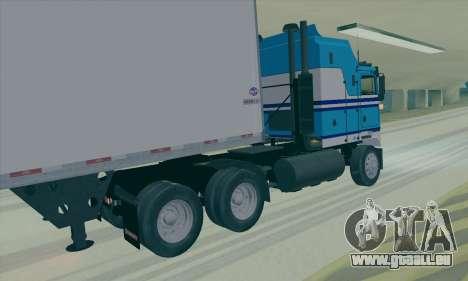 Kenworth K100 pour GTA San Andreas sur la vue arrière gauche