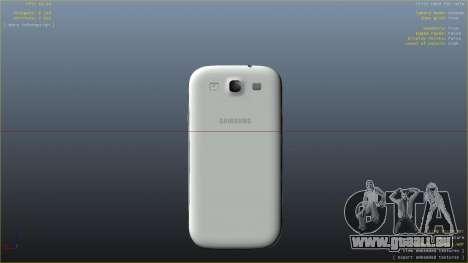 Samsung Galaxy S3 pour GTA 4 cinquième écran