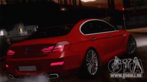 BMW 6 Gran Coupe v1.0 pour GTA San Andreas vue de côté