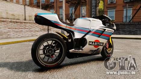 Ducati 848 Martini für GTA 4 linke Ansicht