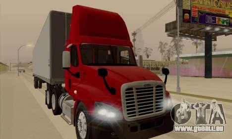 Freghtliner Cascadia Daycab 6x4 pour GTA San Andreas laissé vue