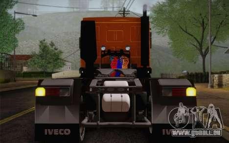 Iveco EuroTech 6x4 Doors für GTA San Andreas Rückansicht