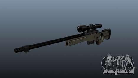 Fusil de sniper AI Arctic Warfare Police pour GTA 4
