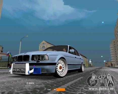 BMW E34 JDM pour GTA San Andreas laissé vue
