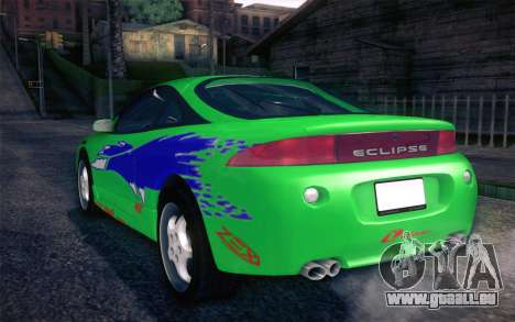 Mitsubishi Eclipse Fast and Furious für GTA San Andreas obere Ansicht