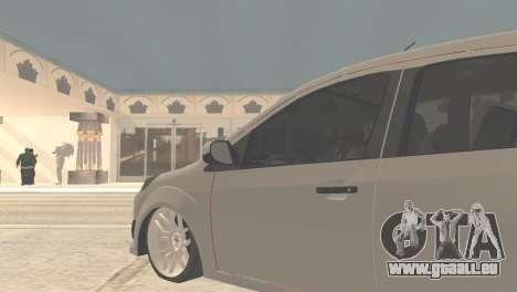 Ford Fiesta Rocam Edit pour GTA San Andreas sur la vue arrière gauche