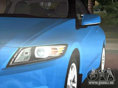 Honda CR-Z 2010 pour GTA Vice City vue arrière