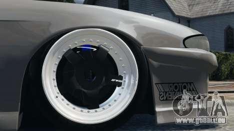 Nissan S14 Zenki JDM v2.0 pour GTA 4 Vue arrière