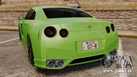 Nissan GT-R SpecV 2010 pour GTA 4 Vue arrière de la gauche