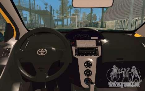 Toyota Vios 2008 pour GTA San Andreas vue arrière