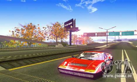 Ferrari 512 BB pour GTA San Andreas sur la vue arrière gauche