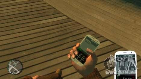 Samsung Galaxy S3 pour GTA 4 secondes d'écran
