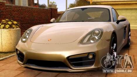 Porsche Cayman 981 S v2.0 pour GTA 4 est un droit