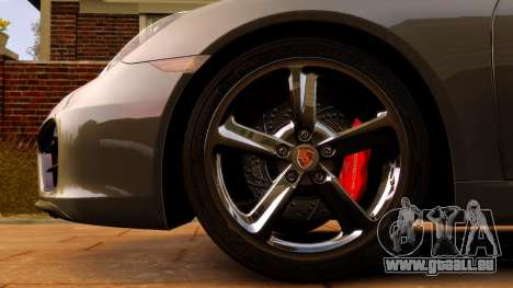 Porsche Cayman 981 S v2.0 pour GTA 4 est une vue de l'intérieur