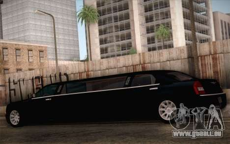 Chrysler 300C Limo 2007 pour GTA San Andreas vue de dessus