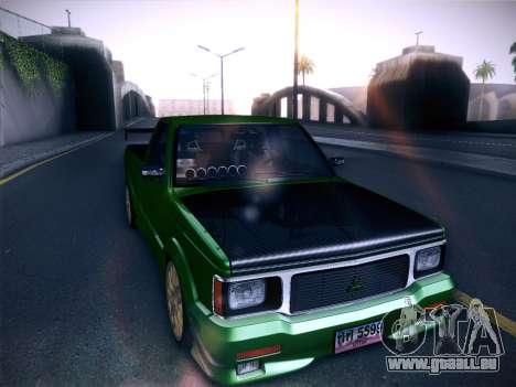 Mitsubishi Cyclone für GTA San Andreas Rückansicht