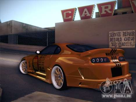Toyota Supra Top Secret V12 für GTA San Andreas rechten Ansicht