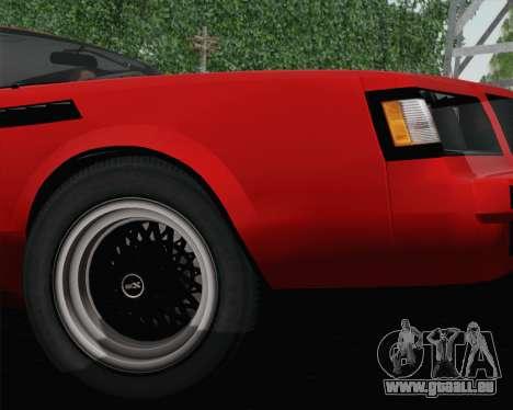 Buick GNX 1987 für GTA San Andreas Innenansicht