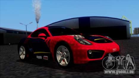 Porsche Cayman S 2014 für GTA San Andreas Seitenansicht