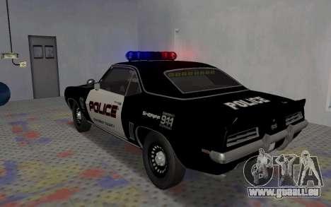 Chevrolet Camaro SS Police für GTA San Andreas rechten Ansicht