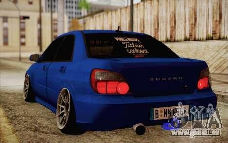 Subaru Impreza JDM pour GTA San Andreas sur la vue arrière gauche