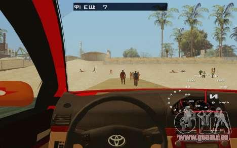 Toyota Vios Taxi Costa Rica pour GTA San Andreas vue intérieure