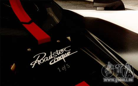 Pagani Zonda Cinque für GTA San Andreas Motor