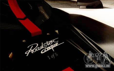Pagani Zonda Cinque pour GTA San Andreas moteur