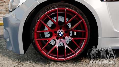 BMW 1 M 2011 pour GTA 4 est une vue de l'intérieur