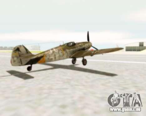 Bf-109 G6 pour GTA San Andreas laissé vue