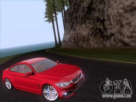 BMW F32 4 series Coupe 2014 pour GTA San Andreas vue de droite