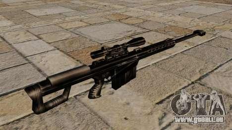 Le fusil de précision Barrett M82 pour GTA 4 secondes d'écran