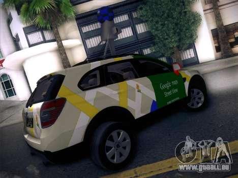 Chevrolet Google Street View Chile pour GTA San Andreas sur la vue arrière gauche