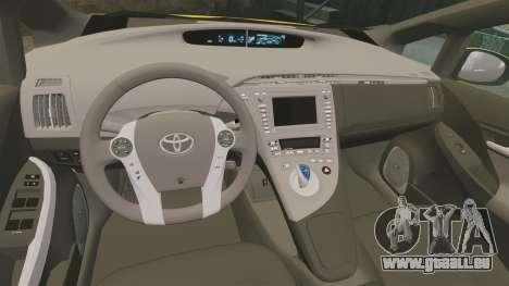 Toyota Prius 2011 Adelaide Independant Taxi pour GTA 4 est une vue de l'intérieur