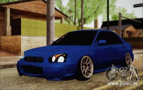Subaru Impreza JDM pour GTA San Andreas vue arrière