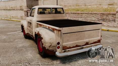 Rouillée vieux camion pour GTA 4 Vue arrière de la gauche