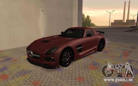 Mercedes-Benz SLS AMG 2013 Black Series pour GTA San Andreas laissé vue