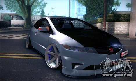 Honda Civic Type R Mugen pour GTA San Andreas laissé vue
