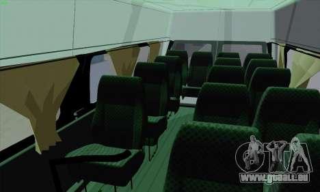 Ford Transit Jumgo für GTA San Andreas Unteransicht