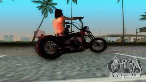 Harley Davidson Shovelhead für GTA Vice City rechten Ansicht