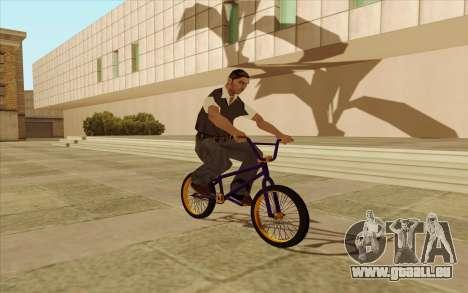 BMX für GTA San Andreas zurück linke Ansicht