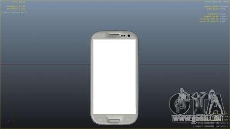 Samsung Galaxy S3 pour GTA 4 quatrième écran