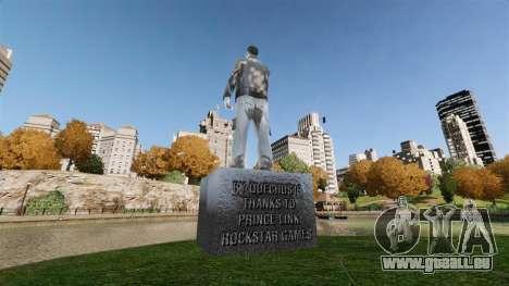 Statue von Claude Aids für GTA 4 Sekunden Bildschirm