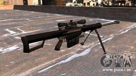 Fusil de précision Barrett M82A1 Light Fifty pour GTA 4 secondes d'écran