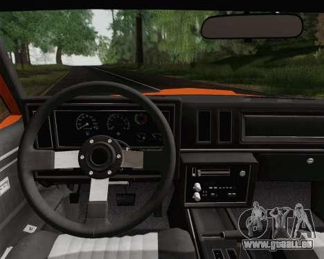 Buick GNX 1987 pour GTA San Andreas vue de dessus